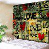 Love Heart Graffiti Stampa Wall Art Tapestry - COLORI MISTI