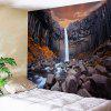Wall Hanging con Cliff Waterfall Print - MARRONE