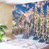 Snow Mountain Printed Wall Hanging - BLUE