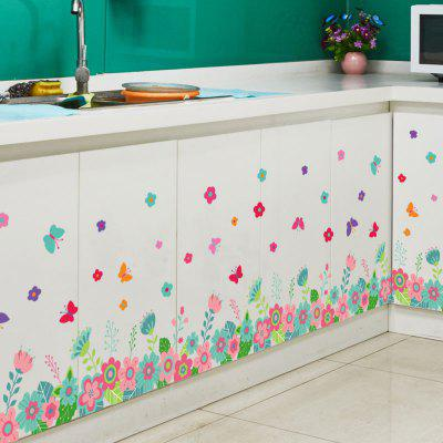 Butterfly and Floral Patterned Wall Stickers
