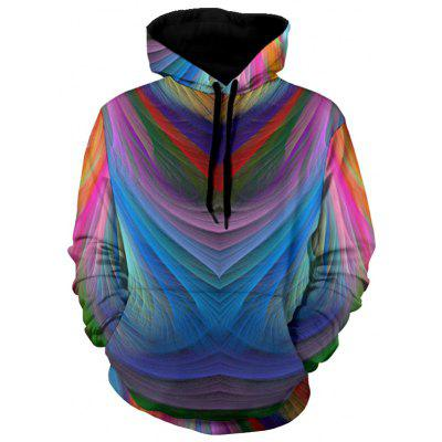 Colorful Irregular Stripe Pullover Hoodie