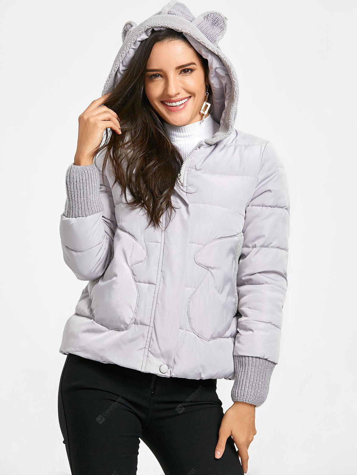 Pockets Hooded Puffer Jacket