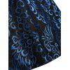 Plus Size Paisley Midi 1950s Vintage Dress - BLUE