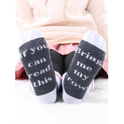 Pair of Graphic Contrast Socks