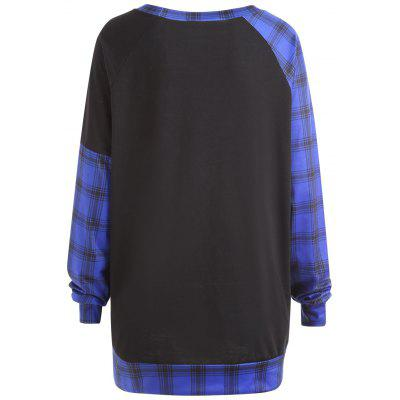 Plus Size Plaid Panel Baseball T-shirtPlus Size Tops<br>Plus Size Plaid Panel Baseball T-shirt<br><br>Collar: Round Neck<br>Material: Cotton Blends, Polyester<br>Package Contents: 1 x Tee<br>Pattern Type: Plaid<br>Season: Spring, Winter<br>Shirt Length: Long<br>Sleeve Length: Full<br>Style: Fashion<br>Weight: 0.3500kg