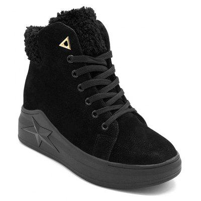 Increased Internal Faux Suede Ankle Boots