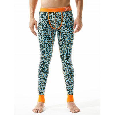 Leopard U Pouch Gym Pants