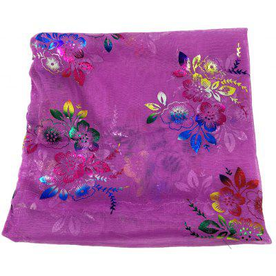 Vintage Floral Embroidery Decorated Infinity Yarn Scarf