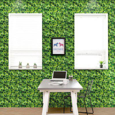Buy Leaves Pattern Removable Background Wall Cover Sticker, GREEN, Home & Garden, Home Decors, Wall Art, Wall Stickers for $3.99 in GearBest store