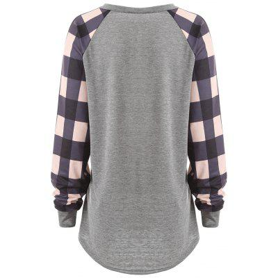 Plus Size Raglan Sleeve Plaid Panel T-shirtPlus Size Tops<br>Plus Size Raglan Sleeve Plaid Panel T-shirt<br><br>Collar: Scoop Neck<br>Material: Polyester<br>Package Contents: 1 x Tee<br>Pattern Type: Plaid<br>Season: Winter, Spring<br>Shirt Length: Long<br>Sleeve Length: Full<br>Sleeve Type: Raglan Sleeve<br>Style: Fashion<br>Weight: 0.3100kg