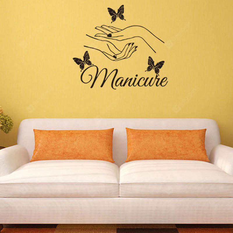 Manicure Both Hands Butterflies Patterned Wall Art Sticker - $4.89 ...