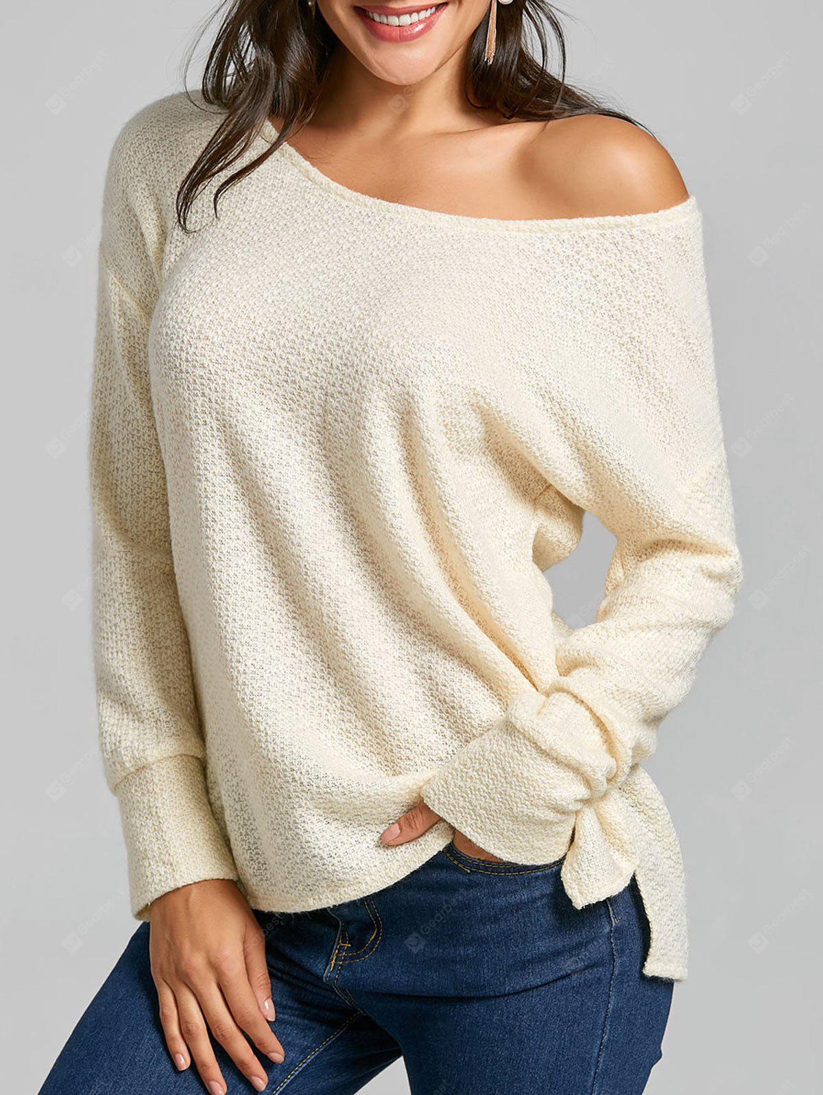 Skeuch Neck Slouchy Tunika Pullover
