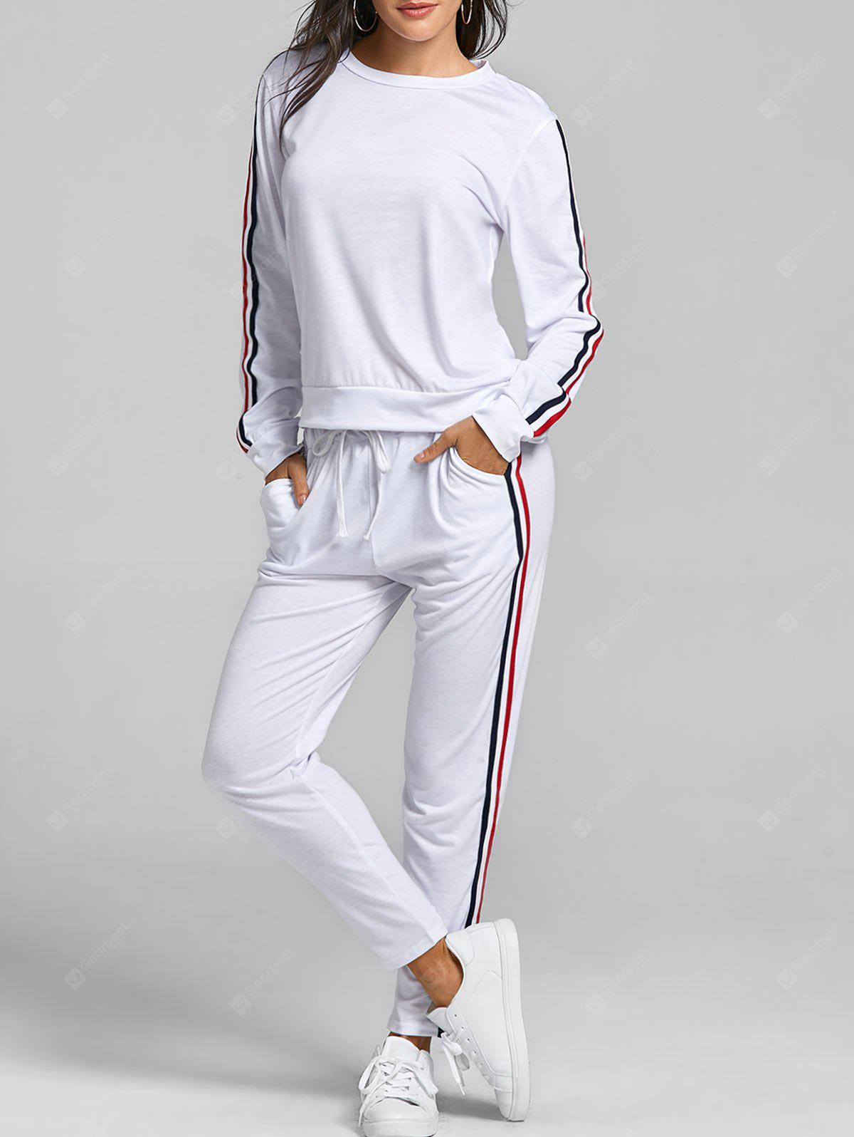 Striped Sweatshirt With Pants Sweat Suits