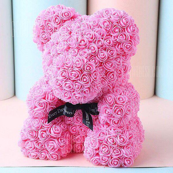 PINK Wedding Party Decoration Valentine's Day Gift Artificial Roses Bear