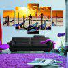 Seaside Sunset Print Split Unframed Canvas Paintings - COLORFUL