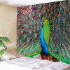 Peacock Shows Its Tail Print Wall Art Tapestry - PEACOCK