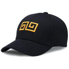bc32343928eae Outdoor Geometric Pattern Embroidery Adjustable Baseball Hat