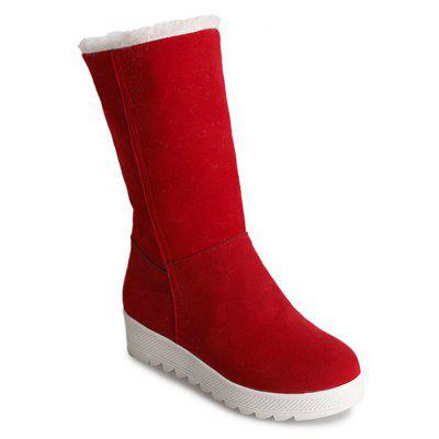 Fold Over Mid Calf Boots