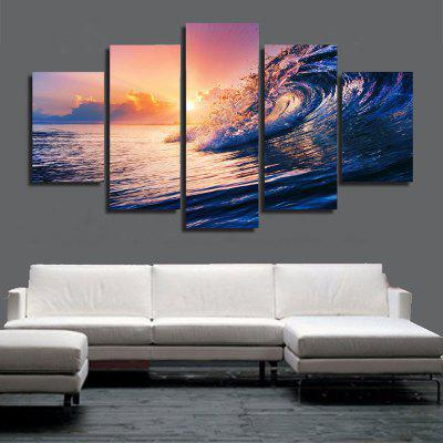 Ocean Waves Printed Canvas Wall Art Paintings