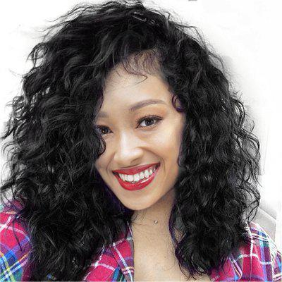 Long Side Parting Shaggy Water Wave Lace Front Synthetic Wig