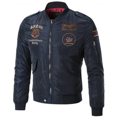 Купить Заплата на рукаве Вышивка Куртка бомбардировщика, Mens Bomber Jackets, Flight Jacket, Utility Jacket, Embroidered Jacket, Trucker Jacket, Zip Up Jacket, Stand Collar Jacket, Fall Jacket, Gearbest, полиэстер, зима