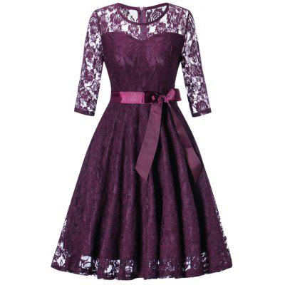 Lace Vintage Fit and Flare Dress
