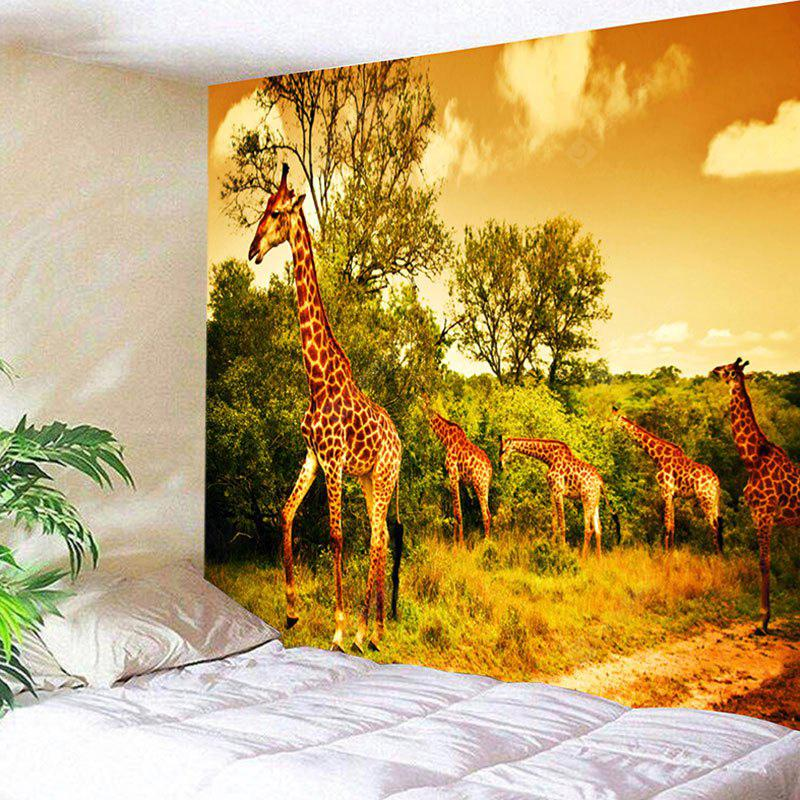 Foraging Giraffes Print Wall Hanging Tapestry