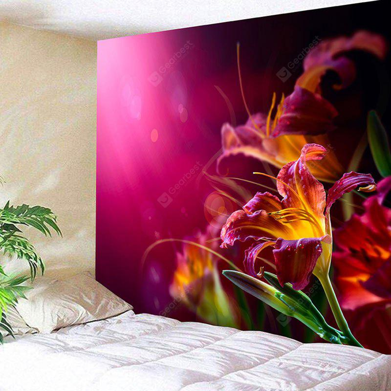 Blooming Flowers Print Tapiz colgante de pared