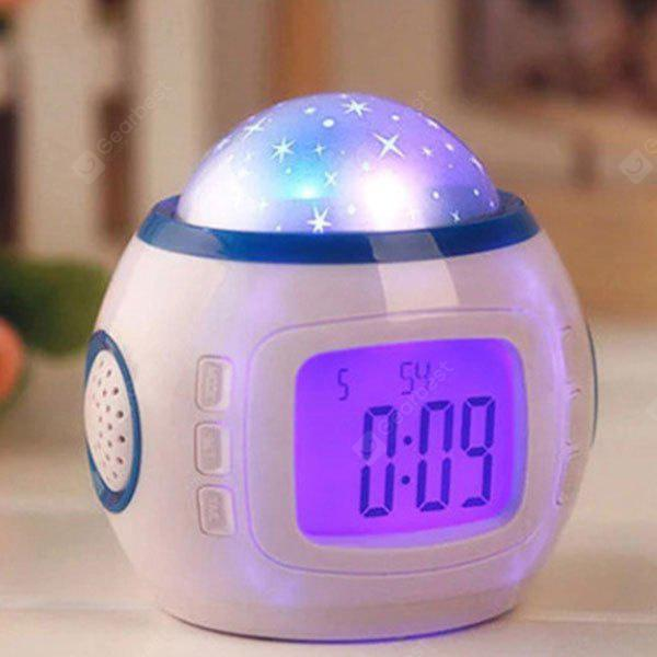 Electronic Multifunctional Music Galaxy Projection Alarm Clock
