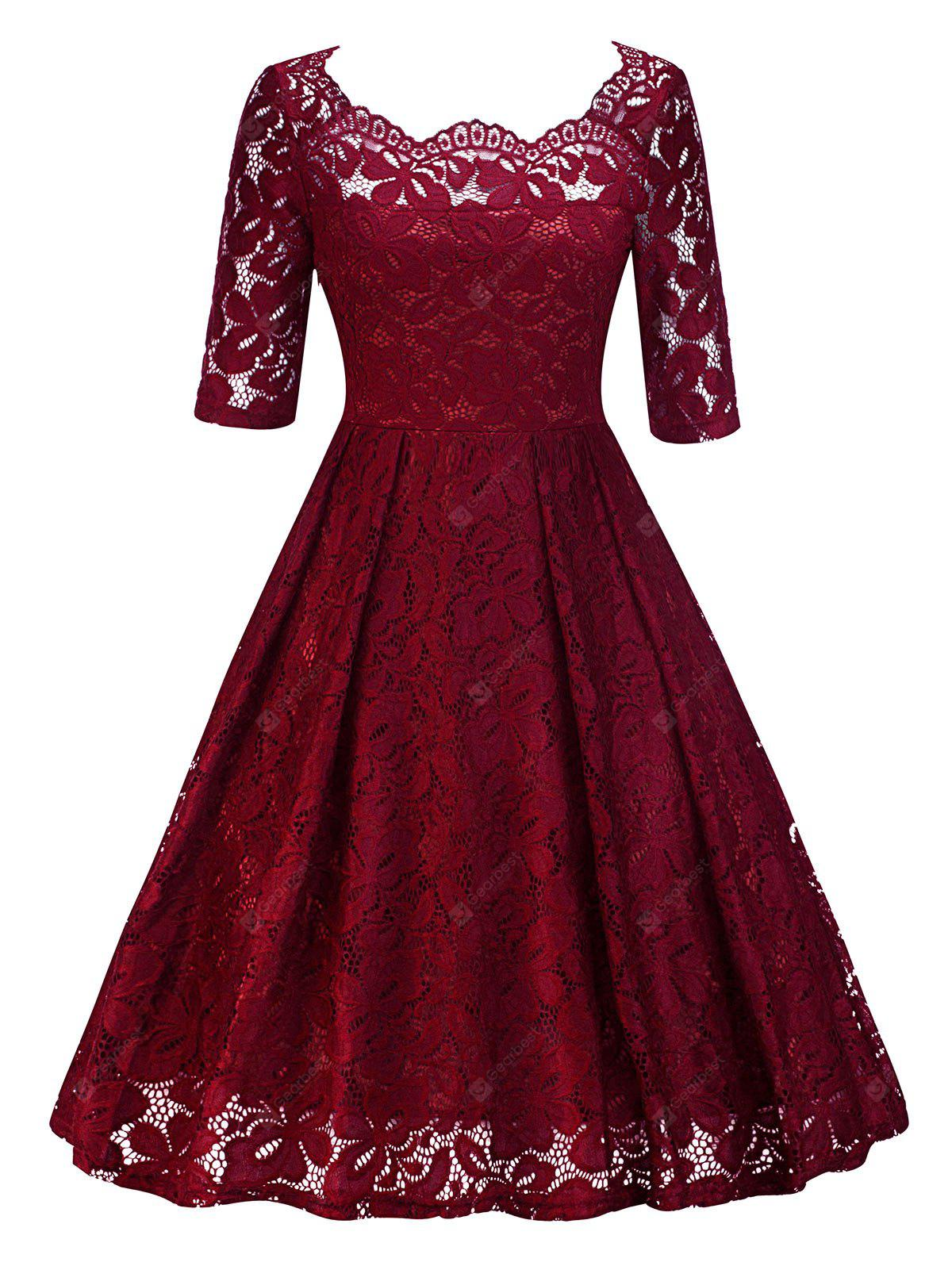 Vintage Lace Pin Up Party Dress