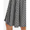 Plus Size Off The Shoulder Houndstooth Dress - BLACK