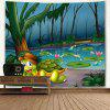 Cartoon Turtle Pond Print Tapicería de pared de arte - COLORES MEZCLADOS