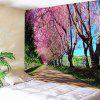 Landscape Wall Hanging Flower Print Tapestry - COLORMIX