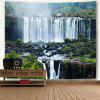 Wall Hanging Waterfall Landscape Print Tapestry - COLORMIX