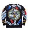Sweat-shirt Totem Indien Imprimé Style de Hip-Hop - MULTICOLORE