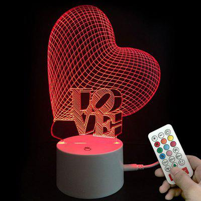 Colors Changing Heart Love LED Night Light Valentines Gifts