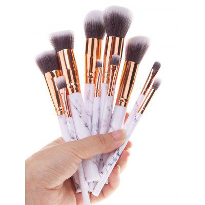 10Pcs Marble Printed Handle Makeup Brushes Set 5pcs makeup brushes tools professional cosmetics blush face powder brushes kit makeup brush set for women foundation make up