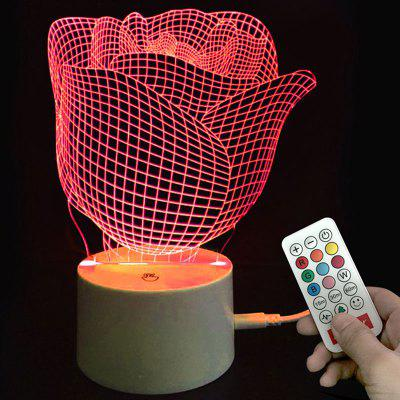 Valentine Rose Color-changing Love Confession Gift Remote Control Night Light