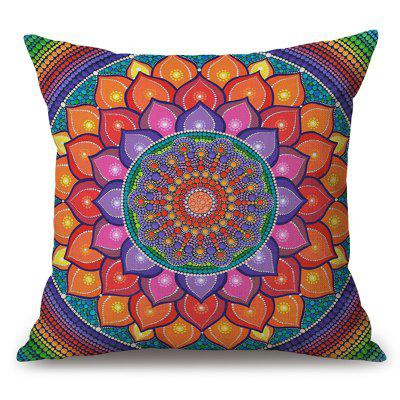 Flower Mandala Pattern Sofa Cotton Linen Throw Pillow Case