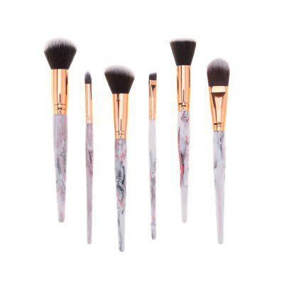 6Pcs Professional Tree Resin Printed Handle Cosmetic Brushes Set