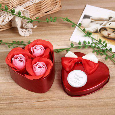 Valentine Gift Confessions of Love Artificial Roses With Iron Box