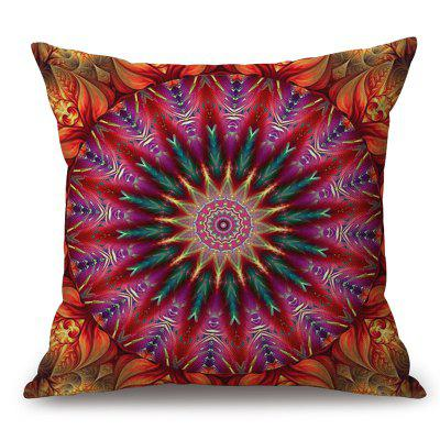 Mandala Pattern Sofa Algodão Linho Throw Pillow Case