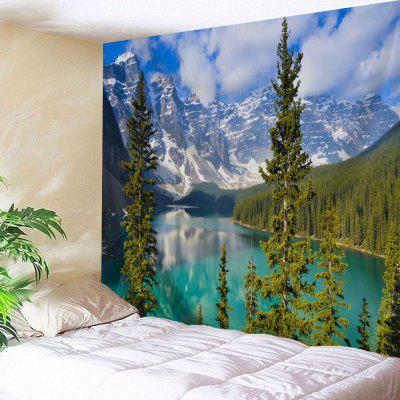 Inverno Moraine Lake Wall Tapestry