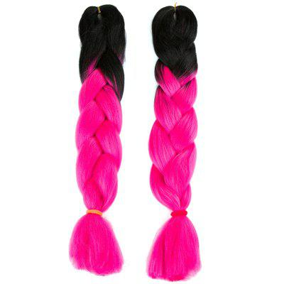 Long Two Tone X-pression Braiding Synthetic Wig