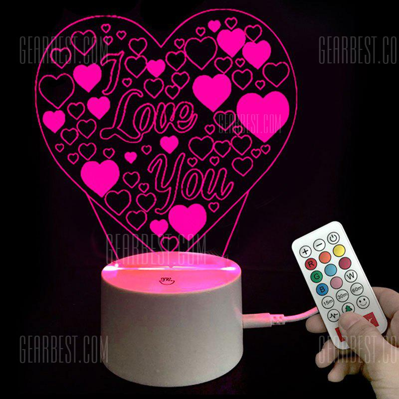 Colors Changing I Love You Heart LED Night Light Valentine's Day Gifts