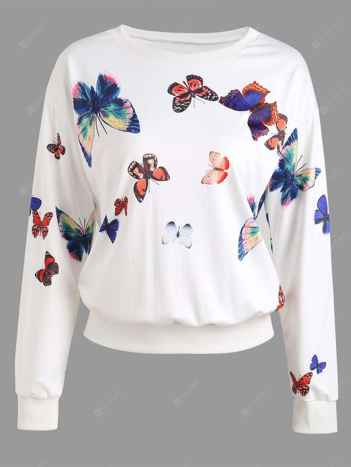 Graphic Butterfly Sweatshirt