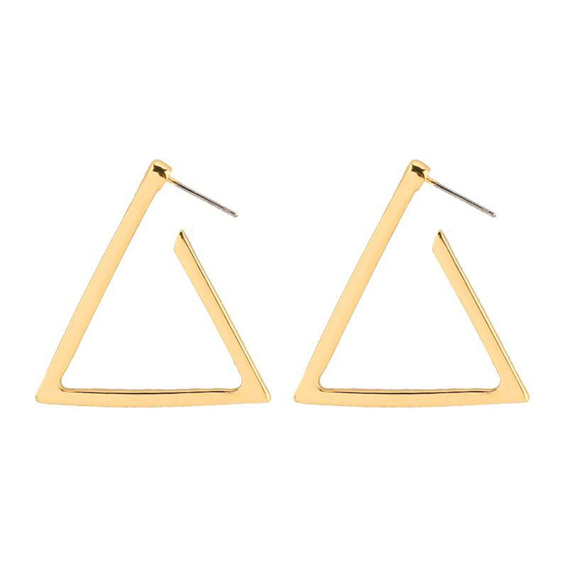 Simple Alloy Triangle Earrings