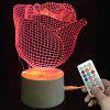 Valentine Rose Color-changing Love Confession Gift Remote Control Night Light - TRANSPARENT
