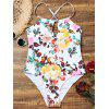Keyhole Floral High Cut Swimsuit - FLORAL