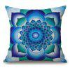 Mandala Flower Pattern Sofa Cotton Linen Throw Pillow Case - BLUE